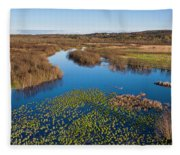 Panorama Of Mouth Of Betsie River Fleece Blanket