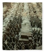 Panorama Of Pit 1, Terra Cotta Warriors Fleece Blanket