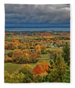 Panoramic Autumn View Fleece Blanket