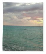 Panoramic View Of Aphrodite's Birthplace Or Petra Tou Romiou In Cyprus Fleece Blanket