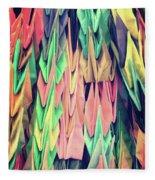 Paper Cranes Fleece Blanket