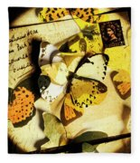 Paper Wings And Inked Out Notes Fleece Blanket
