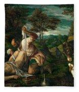 Parable Of The Good Samaritan  Fleece Blanket