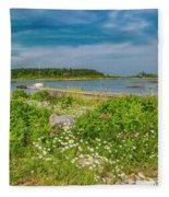 Paradise In Maine Fleece Blanket