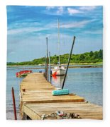 Paradise Sailing Day In Maine Fleece Blanket