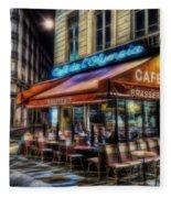Paris Cafe Fleece Blanket
