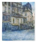 Paris, Rue Du Haut Pave 1866 Fleece Blanket