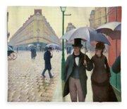 Paris Street In Rainy Weather - Digital Remastered Edition Fleece Blanket