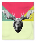 Party Moose Fleece Blanket