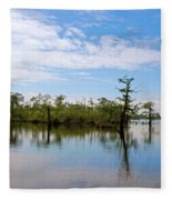 Pasquotank River North Carolina Fleece Blanket