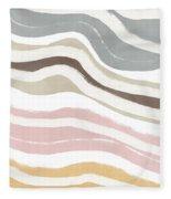 Pastel Waves 2- Art By Linda Woods Fleece Blanket