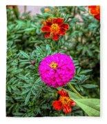 Pastel Wild Flowers Fleece Blanket