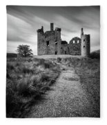 Path To Kilchurn Castle Fleece Blanket