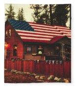Patriotic Bar And Grill Fleece Blanket
