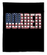 Patriotic Borden Flag Fleece Blanket