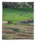 Peaceful Farm Fleece Blanket