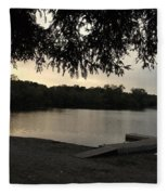 Peaceful Sunset At The Park Fleece Blanket
