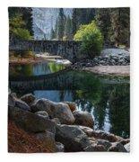 Peaceful Yosemite Fleece Blanket