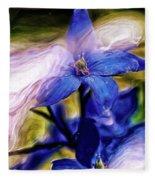Peek A Blue Fleece Blanket