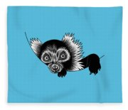 Peeking Lemur - Ink Illustration Fleece Blanket
