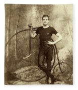 Penny Farthing - High Wheel - Ordinary   Fleece Blanket