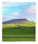 Penyghent In Yorkshire Dales National Park North Yorkshire Fleece Blanket