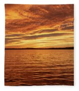 Percy Priest Lake Sunset Fleece Blanket
