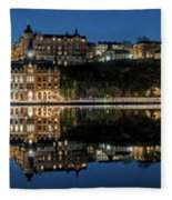 Perfect Sodermalm Blue Hour Reflection Fleece Blanket