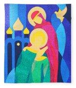Peter And Fevronia Of Murom Fleece Blanket