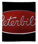Peterbilt Emblem Black Fleece Blanket