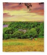 Petersham Landscape Fleece Blanket