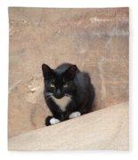 Pharaoh Cat Fleece Blanket