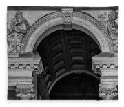 Philadelphia City Hall Fresco In Black And White Fleece Blanket