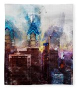 Philadelphia, Pennsylvania - 01  Fleece Blanket