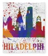 Philly Color Splash Fleece Blanket
