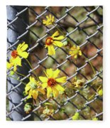 Phoenix Arizona Papago Park Blue Sky Red Rocks Scrub Vegetation Yellow Flowers 3182019 5327 Fleece Blanket