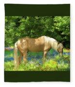 Phoenix In The Lupines Fleece Blanket by Melinda Hughes-Berland