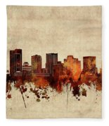 Phoenix Skyline Sepia Fleece Blanket