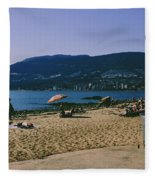 photograph of thid beach which is located in Stanley Park Vancouver. Third beach is a popular location for tourists and locals alike. Fleece Blanket