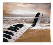 Piano Fantasy Fleece Blanket