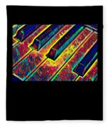 Piano Keys Musican Player Music Notes Gift Color Design Fleece Blanket