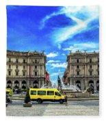 Piazza Della Repubblica Fleece Blanket