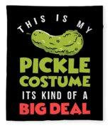 Pickle Costume Funny Apparel Fleece Blanket