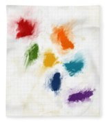 Piece Of The Rainbow- Art By Linda Woods Fleece Blanket