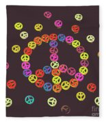 Pieces Of Peace Fleece Blanket