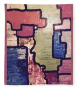 Pieces Of The Puzzle Fleece Blanket