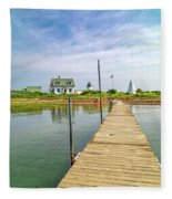 Pier View Goat Island Fantastic Scene Fleece Blanket