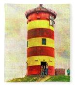 Pilsum Lighthouse Leuchtturm  Fleece Blanket