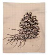 Pine Cone Fleece Blanket