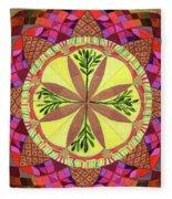 Pine Cone Mandala Fleece Blanket